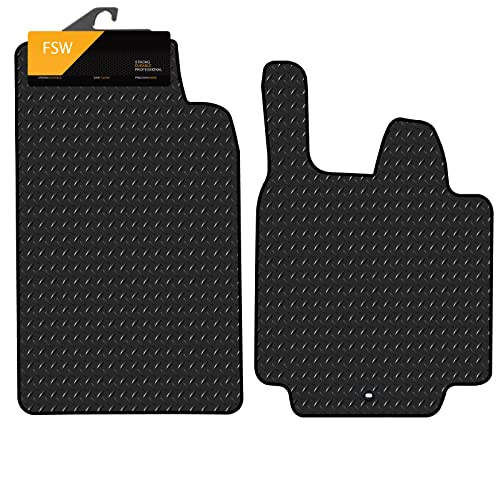FSW For Two 2 Pce Set 07-14 Tailored 3MM Waterproof Rubber Heavy Duty Car Floor Mats from FSW