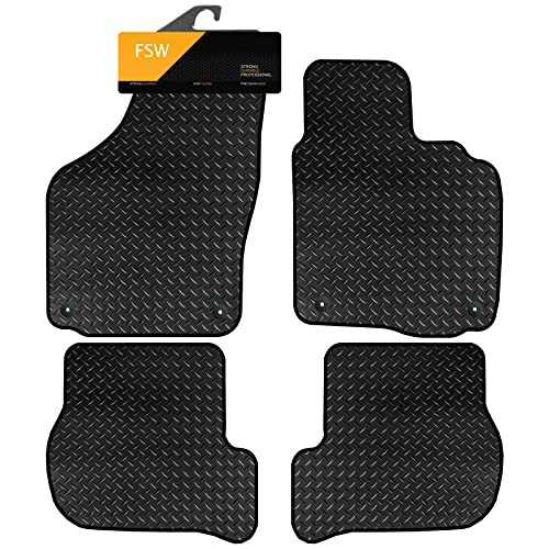 FSW Golf 6 2008-2013 Tailored 3MM Waterproof Rubber Heavy Duty Car Floor Mats from FSW