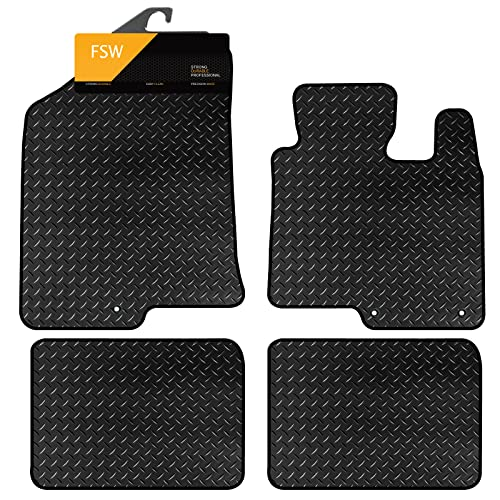 FSW I40 Tailored 3MM Waterproof Rubber Heavy Duty Car Floor Mats from FSW