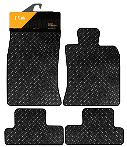 FSW Mini Convertible 2004-2008 Tailored 3MM Waterproof Rubber Heavy Duty Car Floor Mats from FSW