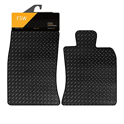 FSW Mini Coupe/Roadster 2011-On R58/R59 Tailored 3MM Waterproof Rubber Heavy Duty Floor Mats from FSW