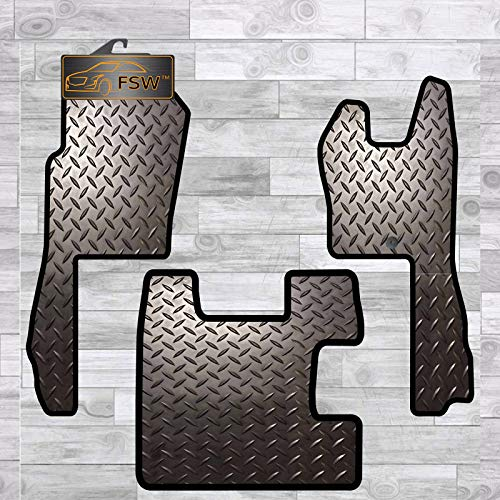 FSW - Tailored Truck Mat - R Series 2004-2016 - EXTRA Heavy Duty 5MM Rubber - Anti Slip Truck Floor Mat, Waterproof, Fitted with Clips - 3Pc Floor Mat With Clips from FSW