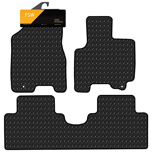 FSW Sportage 2009-2010 3 Pc Tailored 3MM Waterproof Rubber Heavy Duty Car Floor Mats from FSW