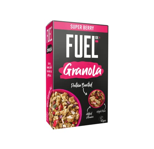 FUEL10K Protein Boosted Chunky Granola - Fruit Loaded - 6x400g from FUEL Energy Breakfast Granola
