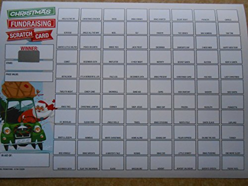 CHRISTMAS FUNDRAISING SCRATCH CARDS 88 SPACES X 5 RAISE £220 from FUNDRAISING AND MEDALS