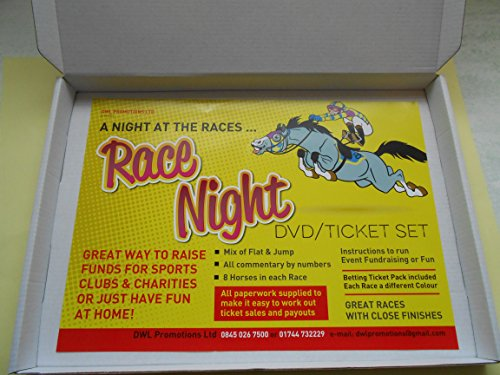 A NIGHT AT THE RACES DVD SET - 9 UK RACES/ tickets/paperwork/new themed names for 2019 - THE COMPLETE SET - IT'S GOT ALL YOU NEED TO PUT ON YOUR RACE NIGHT!! now with quiz and bingo from FUNDRAISING AND MEDALS