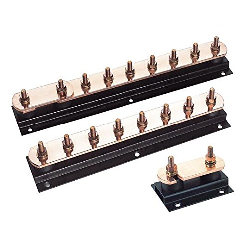 Furse LK245-8 50x6mm Copper Earth Bar with M10 Screws 8 Way from FURSE