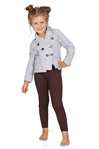 FUTURO FASHION Full Length Cotton Girls Leggings Plain Pants Kids Brown Leggings Age 7 from FUTURO FASHION