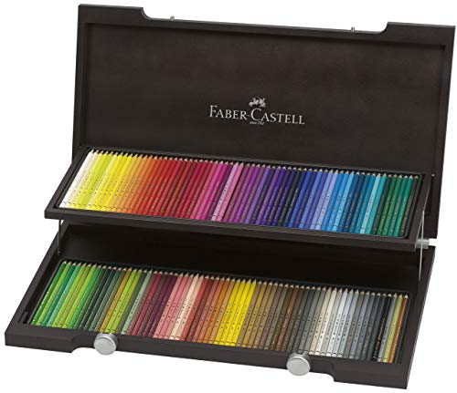 Faber-Castell 120 Polychromos Artist Colour Pencils in Wenge-Stained Wooden Case from Faber-Castell