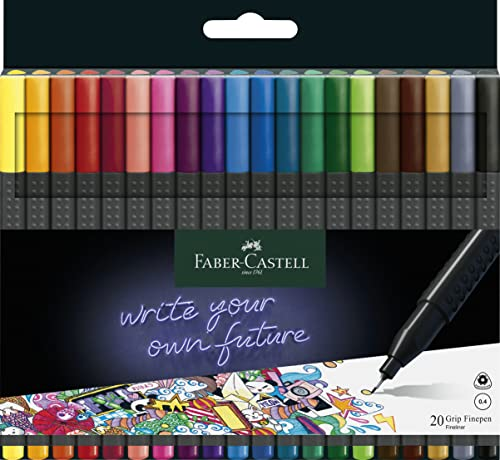 Faber-Castell Grip Finepen (Wallet of 20) from Faber-Castell
