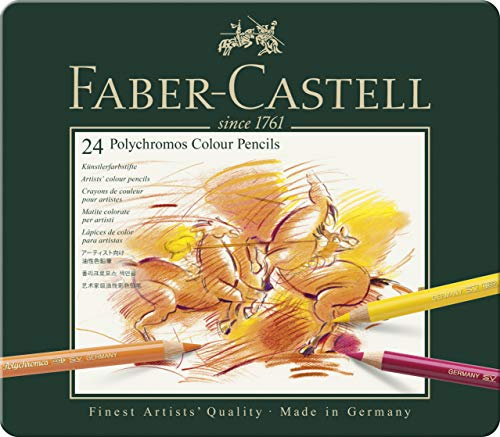Faber-Castell Polychromos Colour Pencils Tin Of 24 from Faber-Castell