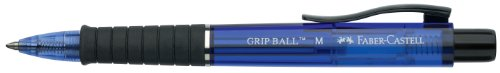 Faber-castell Grip Retractable Ballpoint Pen - Blue (Pack of 10) from Faber-Castell