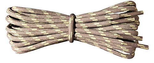Shoelaces - Hiking Boot Laces - Beige with Yellow Flecks 140 cm from Fabmania