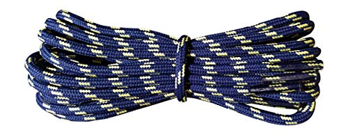 Shoelaces - Hiking Boot Laces - Navy with Yellow Flecks 90 cm from Fabmania
