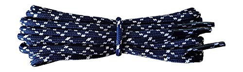 Shoelaces for Walking, Hiking, Trekking Shoe Boot - replacement laces in navy with white flecks 90 cm from Fabmania