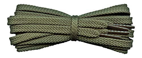 Strong flat 6 mm Shoelaces for sport shoes, football laces - replacement laces for Converse, Vans, Skechers etc from Fabmania