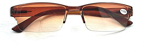 MT60/2 Brown Framed Sun Readers GREAT VALUE Spring Hinged 2015 Reading Glasses +1.0+1.5+2.0+2.5+3.0 (Brown, 1 x) from Fads & Fashions