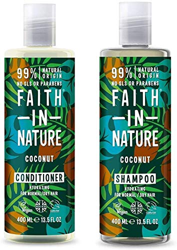 Faith In Nature Coconut Shampoo 400ml & Conditioner 400ml Duo from Faith In Nature