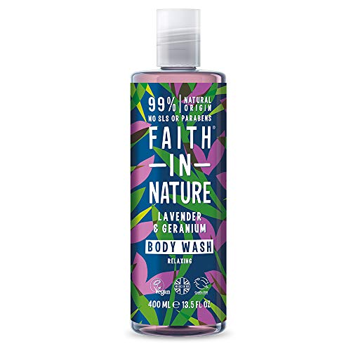 Faith In Nature Lavender & Geranium Shower Gel & Foam Bath 400ml from Faith In Nature