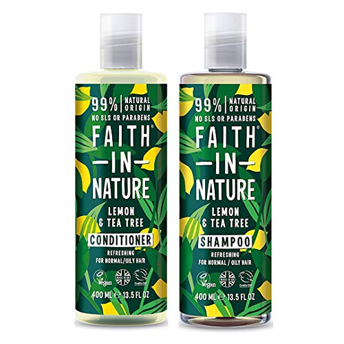 Faith In Nature Lemon & Tea Tree Shampoo 400ml & Conditioner 400ml Duo from Faith In Nature