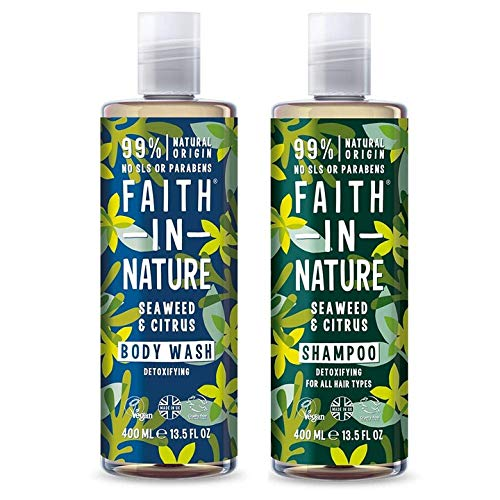 Faith In Nature Seaweed & Citrus Shampoo 400ml & Shower Gel 400ml Duo from Faith In Nature