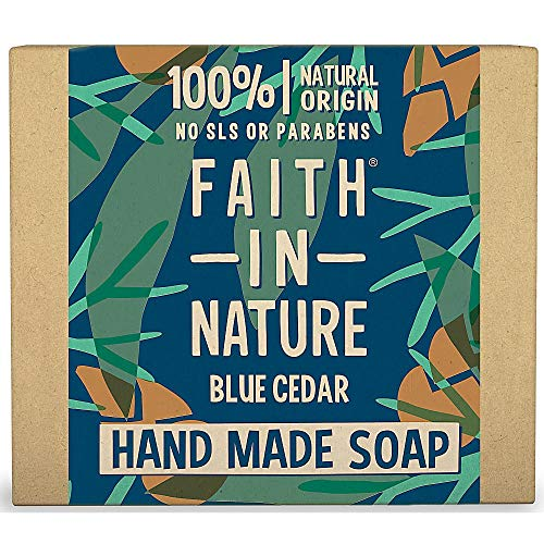 The Faith in Nature Men Blue Cedar Pure Handmade Soap 100 g from Faith In Nature