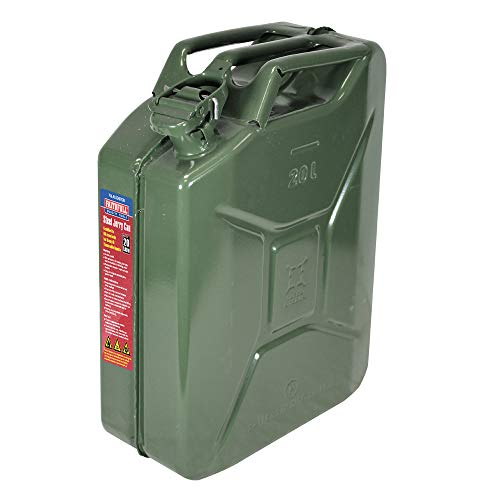 Faithfull FAIAUJERRY20 20 Litre Metal Jerry Can UN App, GS TUV Certified - Green from Faithfull