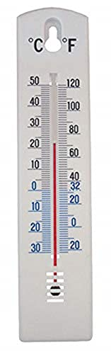 Faithfull THPLASTIC 200mm Thermometer Wall Plastic from Faithfull