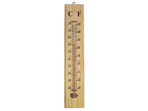 Faithfull THWOODLG 400mm Thermometer Wall Wood from Faithfull
