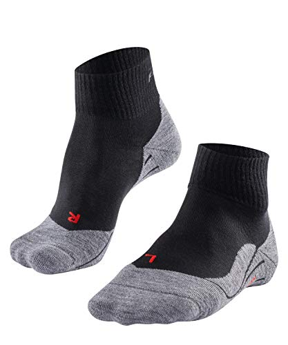 FALKE Women TK5 Short Trekking Socks - Merino Wool Blend, Black (Black-Mix 3010), UK 2.5-3.5 (Manufacturer size: 35-36), 1 Pair from FALKE