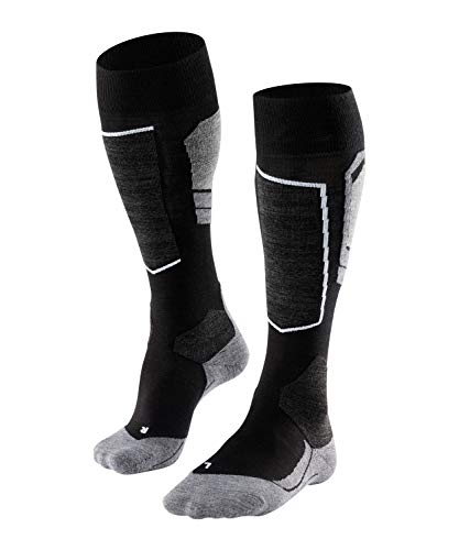 FALKE Men's SK4 Skiing Socks - Merino Wool Blend, Black (Black-Mix 3010), UK 5.5-7.5 (EU 39-41 Ι US 6.5-8.5), 1 Pair from FALKE