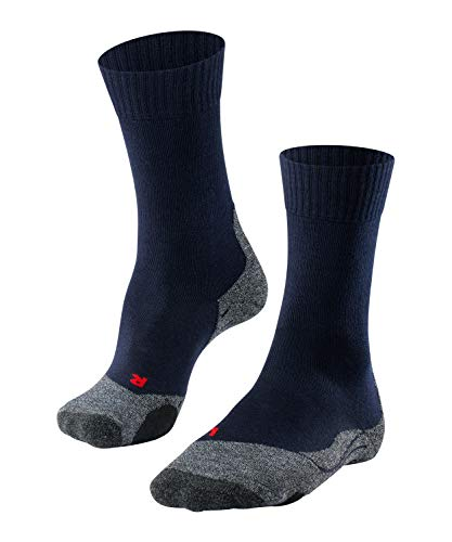 FALKE Men's TK2 Hiking Socks - Merino Wool Blend, Blue (Marine 6120), UK 11-12.5 (EU 46-48 Ι US 12.5-13.5), 1 Pair from FALKE