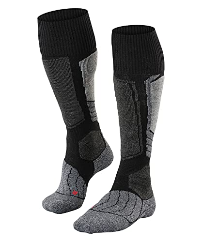 FALKE ESS Ski SK1 knee-highs, 1 pair, UK size 9.5-10.5 (EU 44-45), Black, polypropylene mix - Sweat wicking, fast drying, warm, extra cushioning at key pressure points for maximum impact absorption from Falke