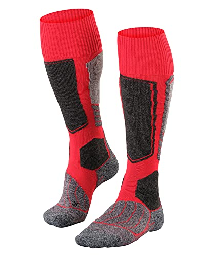 FALKE Men's SK1 M KH Skiing Socks, Red (Lipstick 8000), UK 11-12.5 (EU 46-48 Ι US 12.5-13.5) from FALKE