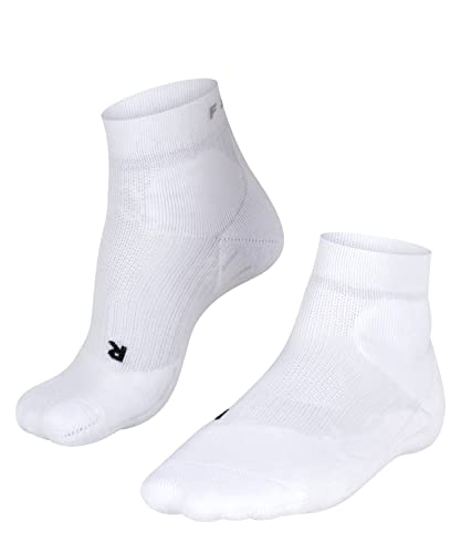 FALKE ESS Tennis TE2 Short socks, 1 pair, UK size 2.5-3.5 (EU 35-36), White, polypropylene mix - Sweat wicking, fast drying, extra cushioning at key pressure points for maximum impact absorption from Falke