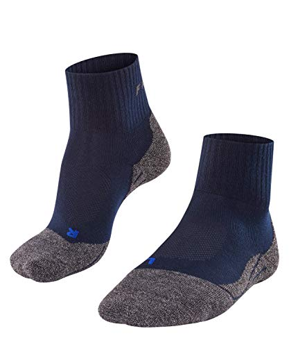 FALKE Men TK2 Short Cool Trekking Socks - Sports Performance Fabric, Blue (Marine 6120), UK 8-9 (Manufacturer size: 42-43), 1 Pair, 16154 from FALKE