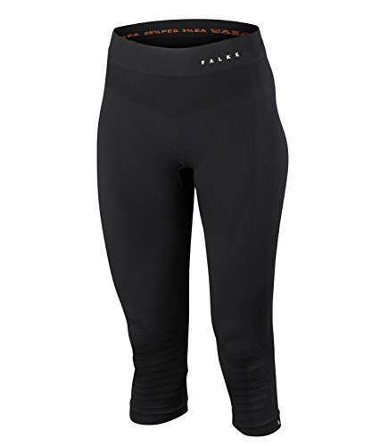 FALKE Women Maximum Warm 3/4 Tights - Sports Performance Fabric, Black (Black 3000), XS, 1 Piece from FALKE