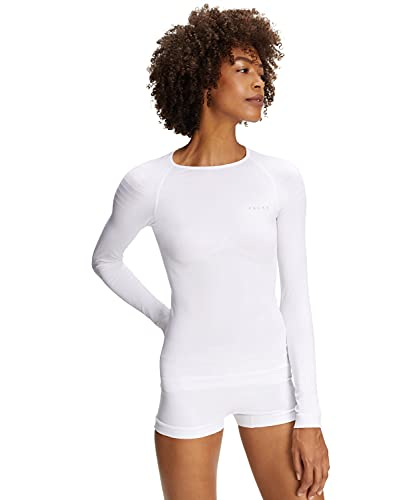 Falke Women's Warm Underwear Long Sleeves Shirt Tight, Womens, Unterwäsche Warm Longsleeve Shirt Tight, white from Falke