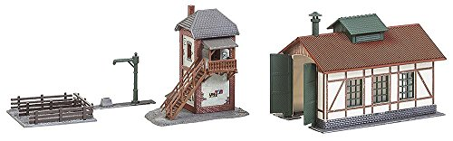 Faller FA 222167 Set with Train Locomotive Shed with Block Unit, Accessories for Model Railway, Model from Faller