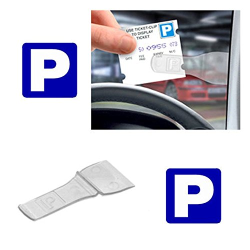 4 x Car Windscreen Parking Ticket Permit Pass Holder Clip (4 Pack) from Family Motoring & Leisure