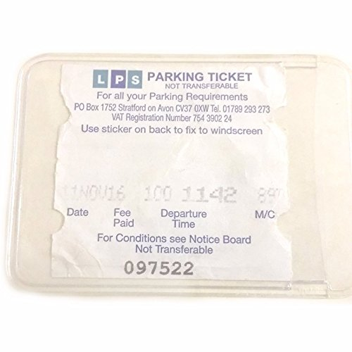 Self Adhesive Backed Windscreen Parking Ticket Permit Card Holder (2) from Family Motoring & Leisure