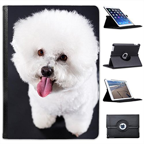 Fancy A Snuggle Bichon Frise Dog For Apple iPad Air 2 Faux Leather Folio Presenter Case Cover Bag with Stand Capability from Fancy A Snuggle