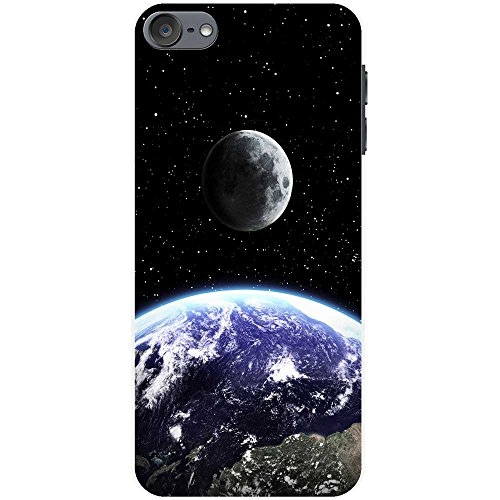 Fancy A Snuggle Earth & Moon In Space Snap-on Hard Back Case iPod Cover for Apple iPod Touch 6th Generation from Fancy A Snuggle