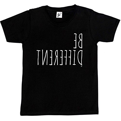 Fancy A Snuggle Be Different - Unique Personality Kids Boys/Girls T-Shirt Black 7-8 Year Old from Fancy A Snuggle