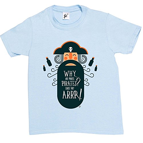 Fancy A Snuggle Why are Pirates Pirates? Because They ARR! Funny Kids Boys T-Shirt Sky Blue 9-11 Year Old from Fancy A Snuggle