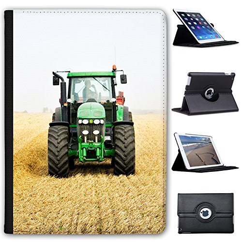 "Fancy A Snuggle Green Tractor In The Field Faux Leather Case Cover/Folio for the Apple iPad 9.7"" 5th Generation (2017 Version) from Fancy A Snuggle"