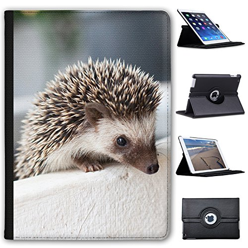 "Fancy A Snuggle Hedgehog In Pot Faux Leather Case Cover/Folio for the Apple iPad 9.7"" 5th Generation (2017 Version) from Fancy A Snuggle"