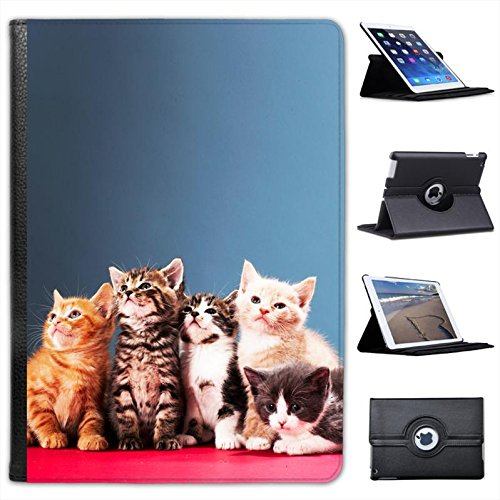 Fancy A Snuggle Kittens Cat For Apple iPad Air 2 Faux Leather Folio Presenter Case Cover Bag with Stand Capability from Fancy A Snuggle