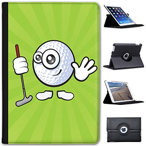 Fancy A Snuggle Sporticon Waving Golf Ball Faux Leather Case Cover/Folio for the Apple iPad Mini, iPad Mini 2, iPad Mini 3 from Fancy A Snuggle