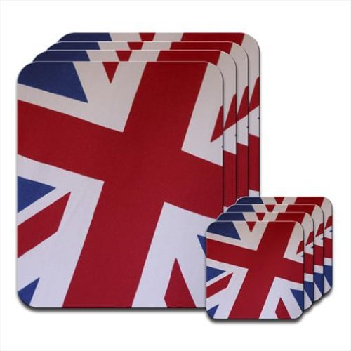 Fancy A Snuggle Union Jack of Great Britain England UK Set of 4 Placemat & Coasters from Fancy A Snuggle